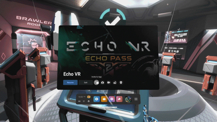 New Oculus software update showing the interface for inviting others to play