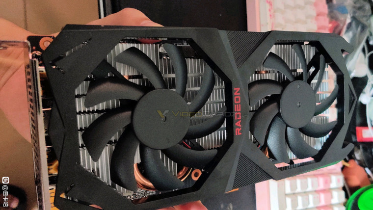 Leaked photo of an alleged RX 6600 XT reference card