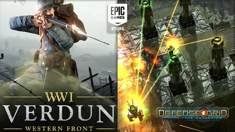 Epic Games Store Verdun and Defense Grid gift