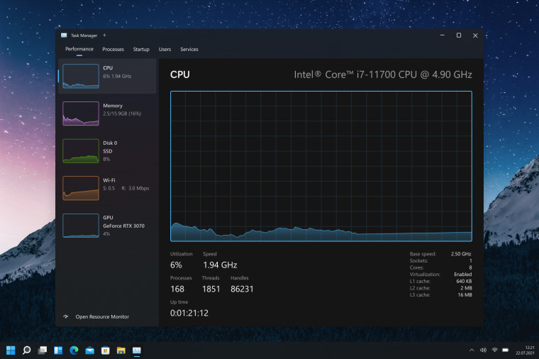 Task Manager concept with dark mode