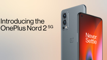 The OnePlus Nord 2 5G in gray sierra color variant