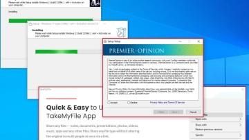 A fake Windows 11 installer actually distributing malware