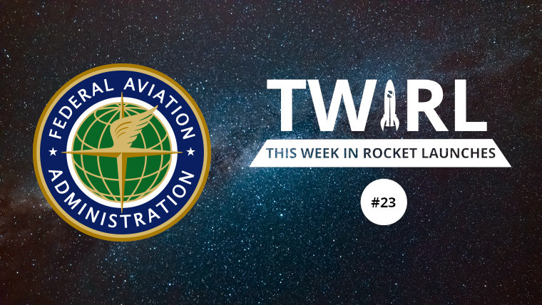 The FAA logo and TWIRL logo on a starry background
