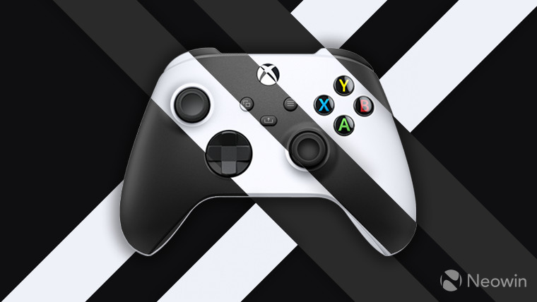 Xbox Series XS controllers on dark grey background