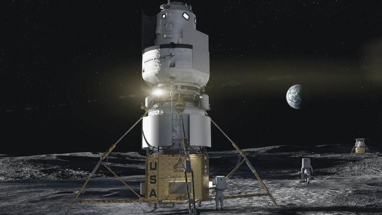 Artist&039s impression of Artemis mission