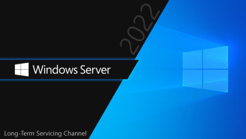 Windows Server logo with 2022 and Long Term Servicing Channel written against the Windows wallpaper