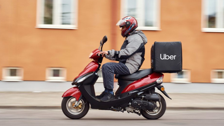 Uber delivery rider