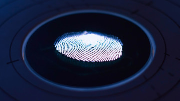 A fingerprint on a surface