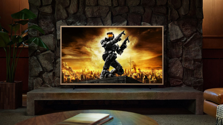 A Halo wallpaper on The Frame