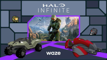 The Warthog and Ghost vehicles from Halo