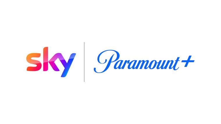 The Sky and Paramount Plus logos