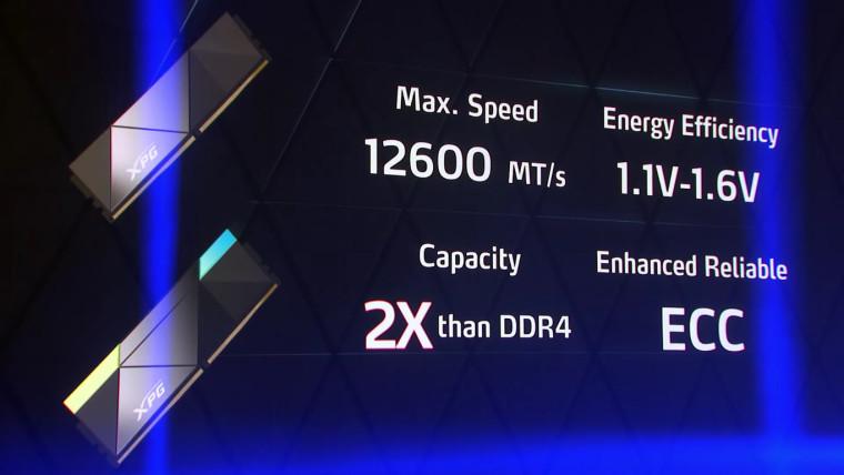 ADATA DDR5-12600 specs