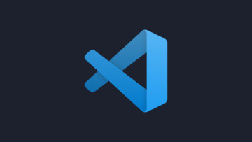 The Visual Studio Code logo on a dark background