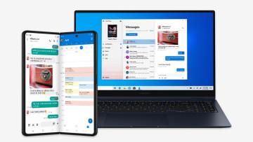 Microsoft apps running on the Galaxy Z Fold3
