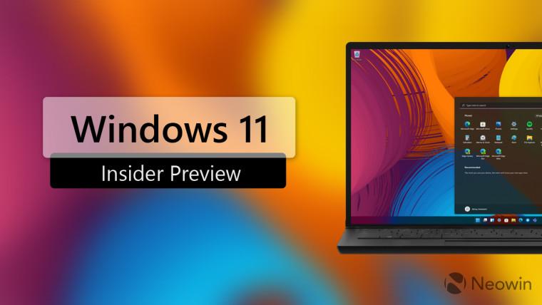 windows 11 inside preview written next to a virtual laptop running Windows 11