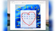 Snipping Took app on Windows 11 showing an annotation of a heart on a screenshot