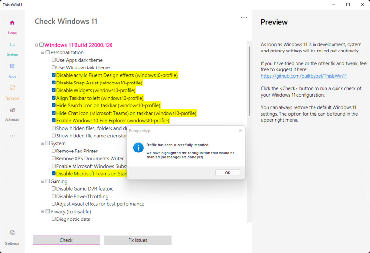 ThisIsWind11 settings screen