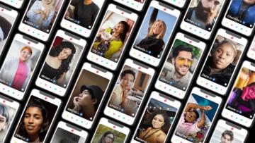 Screenshot of different Tinder profiles