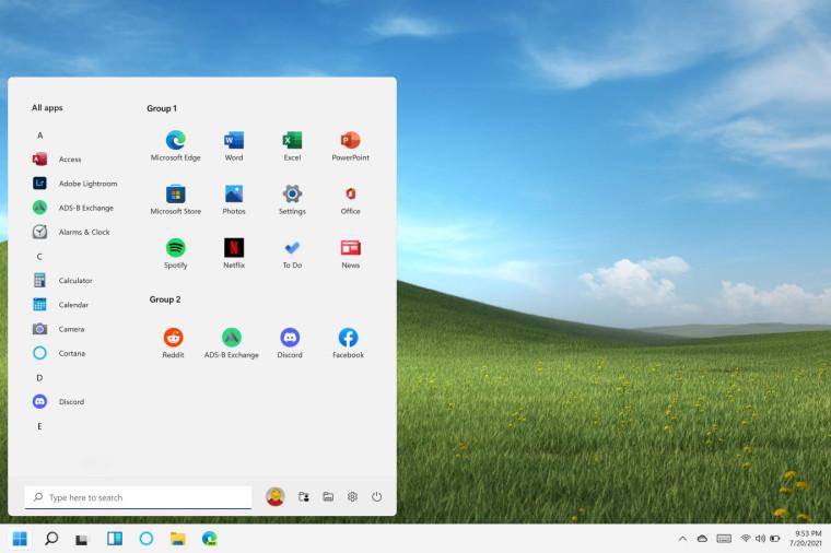windows 11 concept screenhots