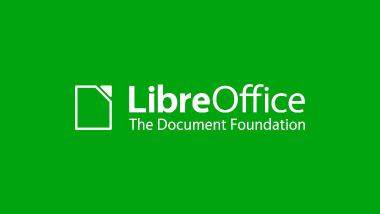 The LibreOffice logo on a green background