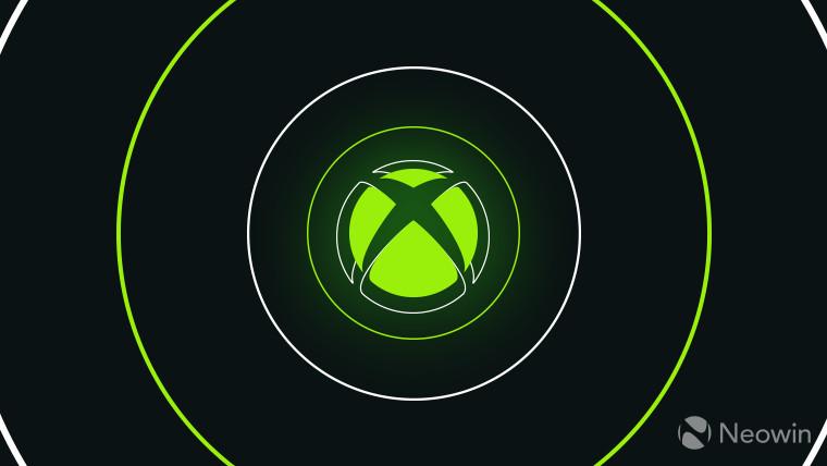 Xbox logo light green on dark grey background