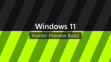 Windows 11 and Insider Preview Build written against a black and varied colored background