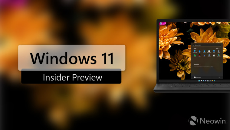 Windows 11 Insider Preview written with an image of a dummy laptop running Windows 11