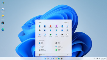 Windows 11 in browser home screen UI made by Blue Edge