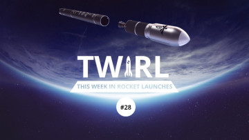 The TWIRL logo and the Firefly Alpha rocket