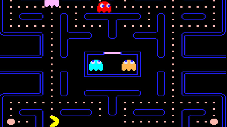 This is a screenshot of Pac-Man on mobile devices