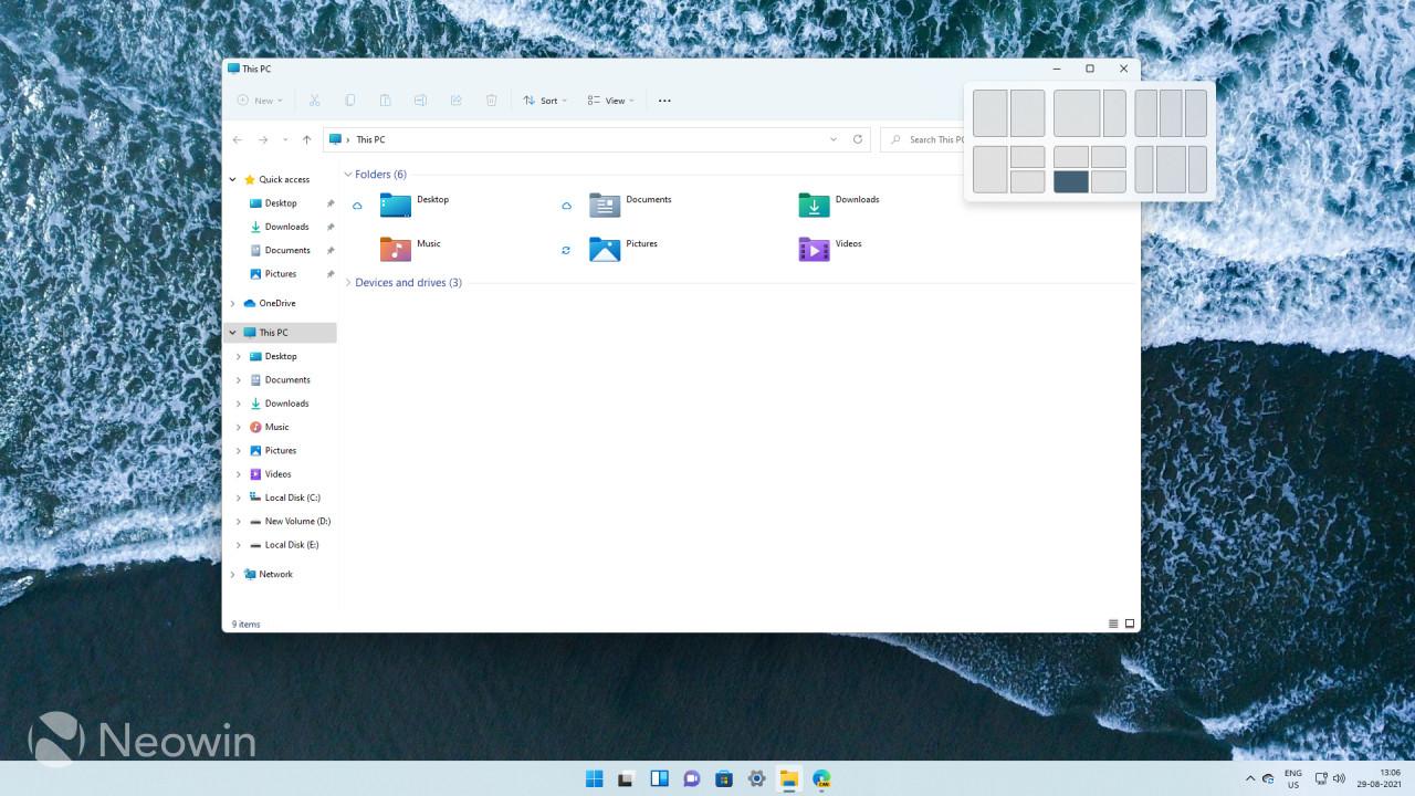 Windows 11 File Explorer showing Snap Groups feature