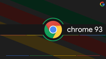 Google Chrome logo with Chrome 93 written in the middle