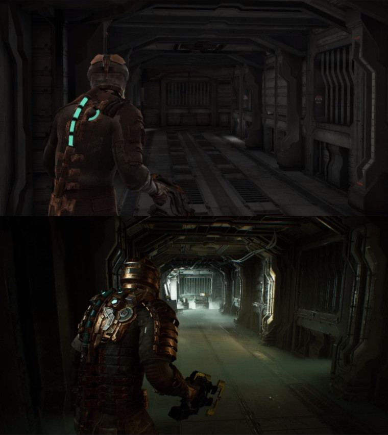 Dead Space Remake comparison between original and new