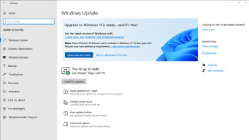 Windows Update settings showing that a PC is ready to download Windows 11 preview builds