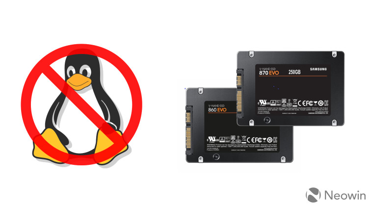 Samsung 860 and 870 EVO SSD with no Linux support