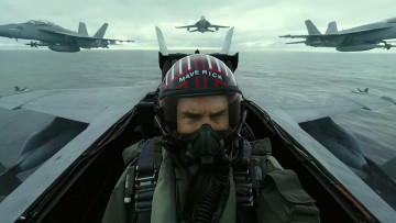 This is a promotional image from Top Gun Maverick