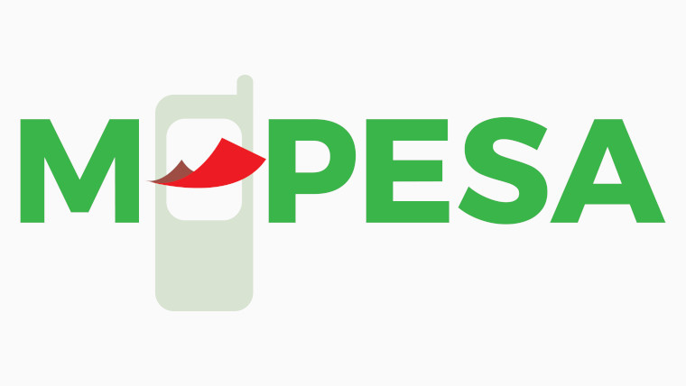 The M-Pesa logo on a white background