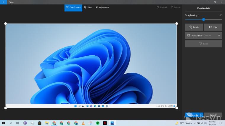 A screenshot of the Windows 10 Photos app