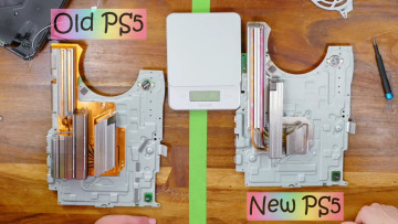 New PS5 heatsink vs the original model