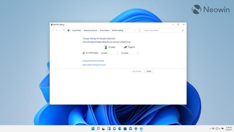 Windows 11 power plan settings