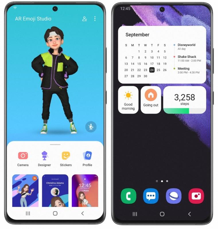OneUI 40 beta on Galaxy S21 series