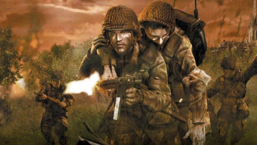 This is a promotional image for Brothers in Arms