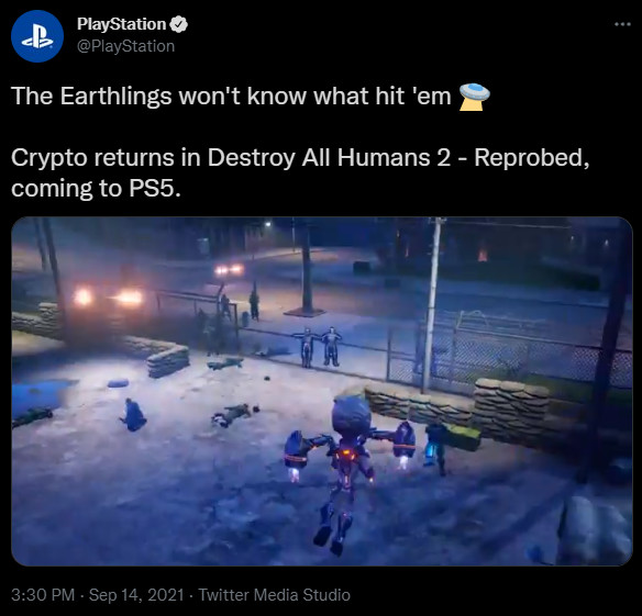 This is a screenshot of a deleted PlayStation tweet