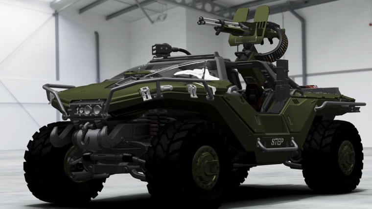 This is a screenshot of the Halo Warthog in the Forza games