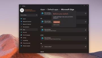 Microsoft Edge Default Apps settings in Windows 11