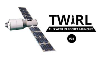 The Tianzhou 3 next to the TWIRL logo