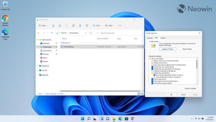 Opsi File Explorer terbuka di desktop di Windows 11