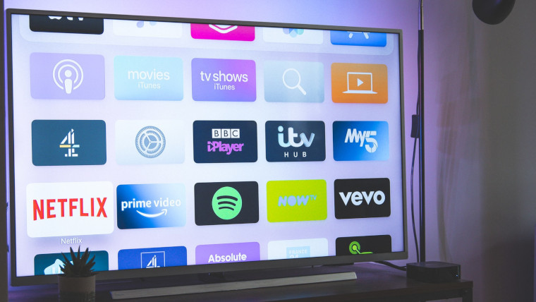 Streaming services on a TV