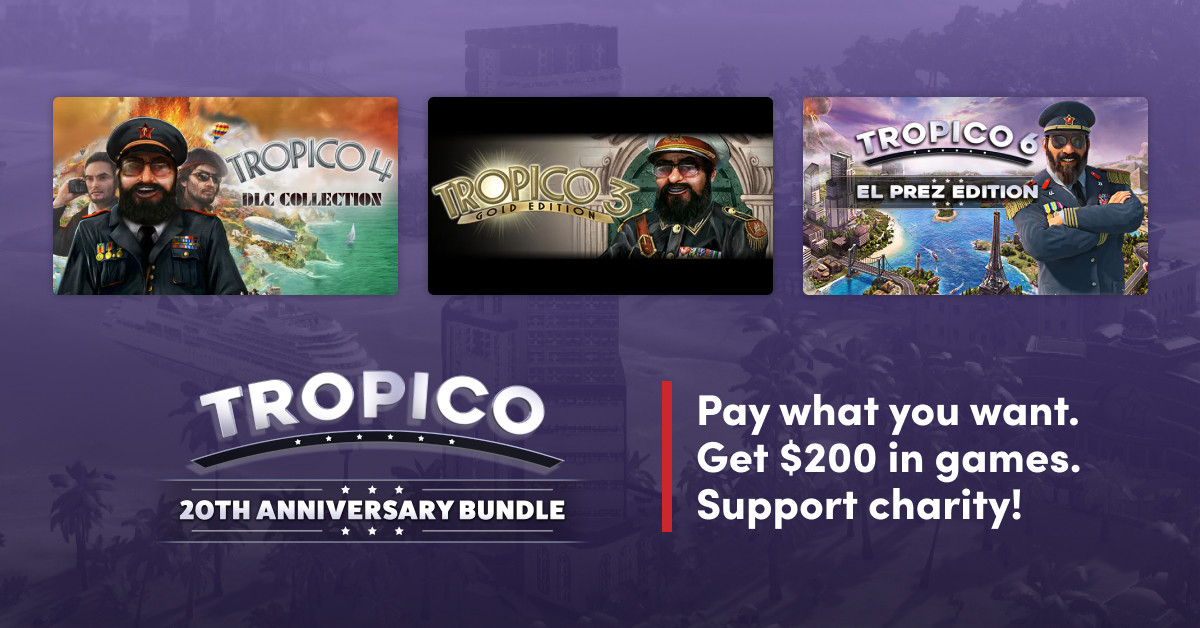 Humble Tropico anniversary bundle promo