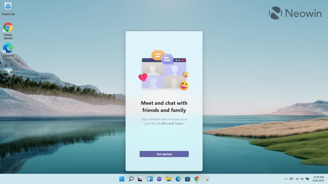 Screenshots of Microsoft Teams running on Windows 11